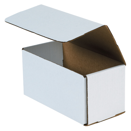 "8 x 4 x 4"" White Corrugated Mailers"